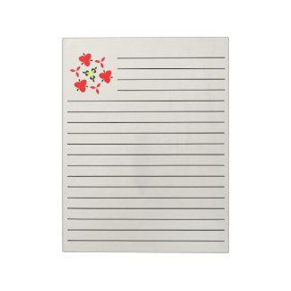 wood pattern notepad