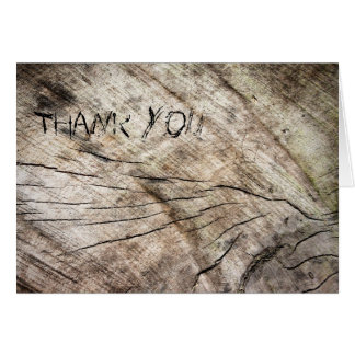 Wood Pattern Thank You Card