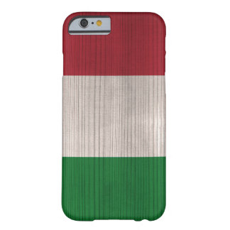 Wood Pattern with Engraved Italy Flag Barely There iPhone 6 Case