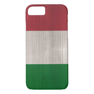 Wood Pattern with Engraved Italy Flag iPhone 7 Case