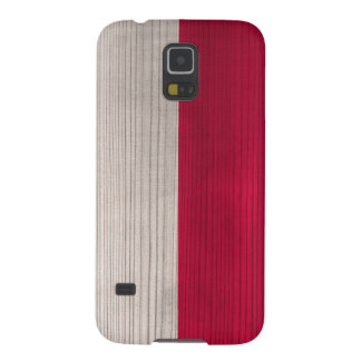Wood Pattern with Engraved Polish Flag Galaxy S5 Cases