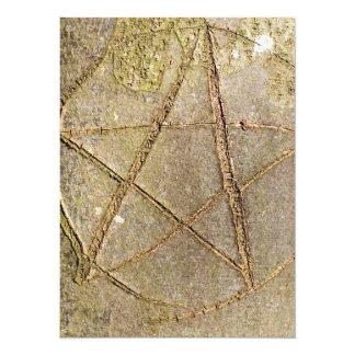 Wood Pentagram Tree Invitation