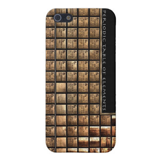Wood periodic Table of Elements iPhone 5 Covers