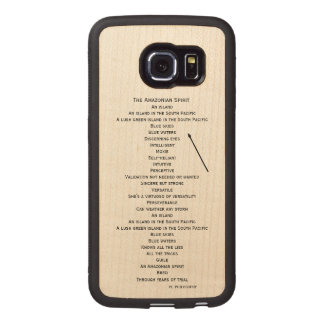 wood phone case for the Samsung S6 edge