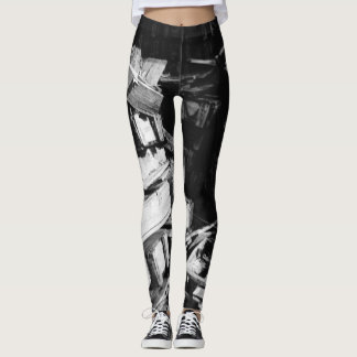 Wood Pile Abstract Leggings