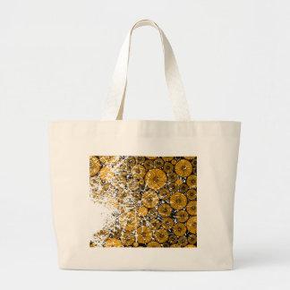 Wood Pile Grunge Large Tote Bag