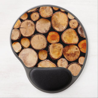 Wood Pile Texture Gel Mouse Mat