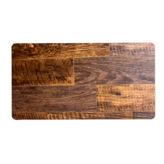 wood plank shipping label