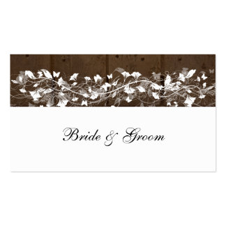 Wood Planks Place Cards Business Cards