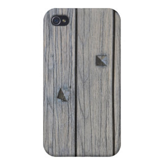 Wood planks with square nails texture that perfect covers for iPhone 4