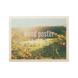 Wood Poster 14.9 x 19 Horizontal Fit Template