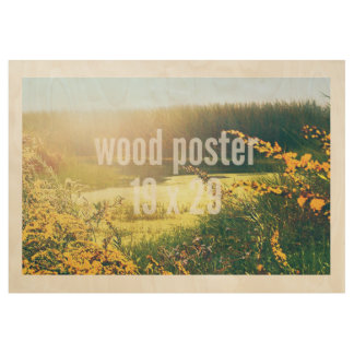Wood Poster 19 x 29 Horizontal Fit Template