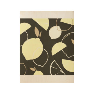 Wood poster art with Citruses