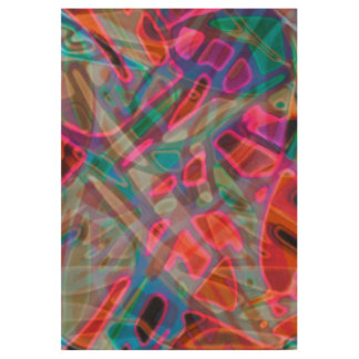 Wood Poster Colorful Stained Glass