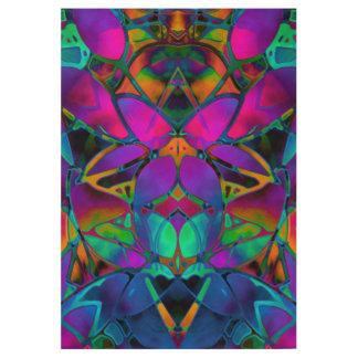 Wood Poster Floral Fractal Art