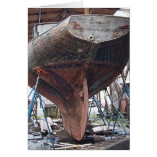 wood sailboat card