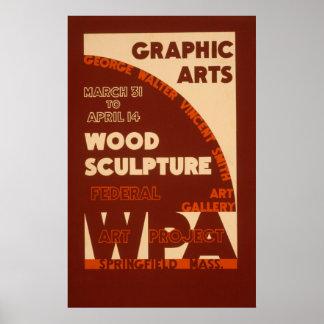 Wood Sculpture WPA Poster