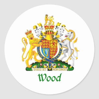 Wood Shield of Great Britain Stickers