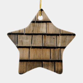 Wood shingle christmas ornament