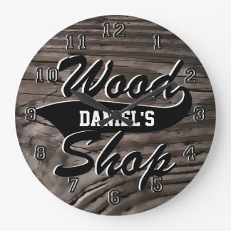 Wood Shop Personalize Wall Clock