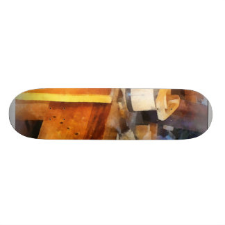 Wood Shop With Wooden Bucket Skate Board Deck