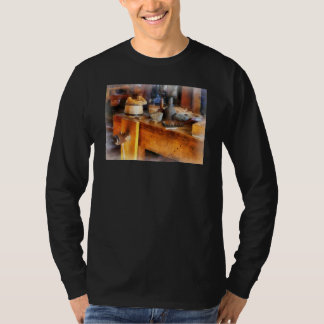 Wood Shop With Wooden Bucket T-shirts