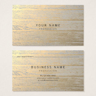 Wood Silver Sepia Gold Metallic Appointment Card