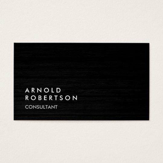 Wood Simple Plain Grey Trendy Business Card