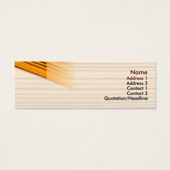 Wood - Skinny Mini Business Card