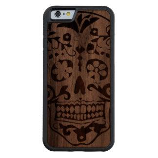 Wood skull carved® walnut iPhone 6 bumper
