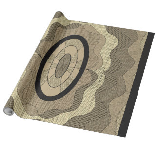 Wood slice wrapping paper