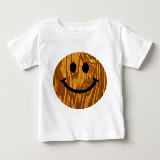 Wood Smiley Baby T-Shirt