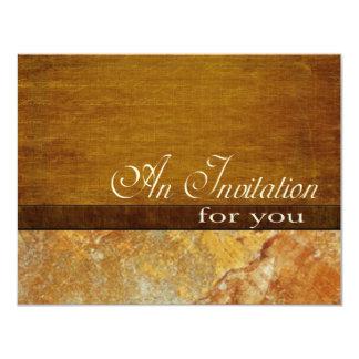 Wood Stone Business Executive Retirement 4.5x5.5 11 Cm X 14 Cm Invitation Card