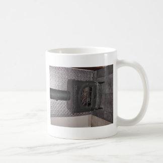 Wood stove basic white mug