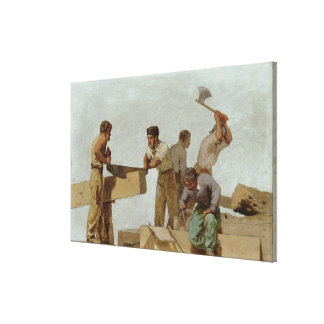 Wood Structure Canvas Print