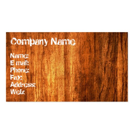 Wood Style Business Card