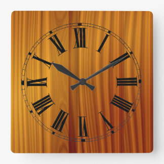 Wood Teak Wall Clock