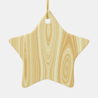 Wood texture background ceramic star decoration