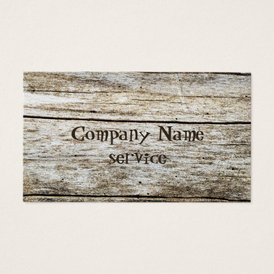 Wood Texture Carved Text Effect Business Card