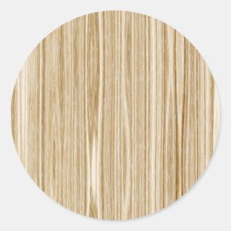 wood texture classic round sticker