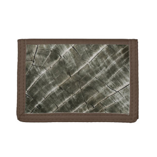 Wood Texture Cool Unique Tri-fold Wallet
