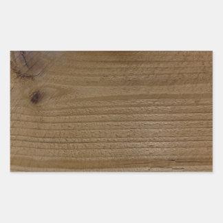 Wood texture of native timber rectangular sticker