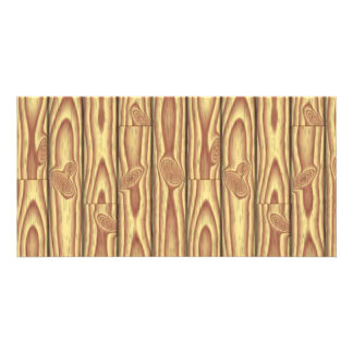 Wood texture photo greeting card