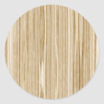 wood texture round sticker