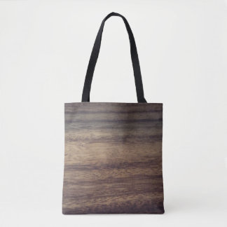 Wood textured tote bag
