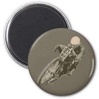 Wood Tracker Motordrome Board Racer 6 Cm Round Magnet