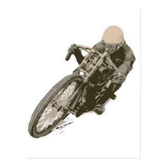Wood Tracker Motordrome Board Racer Postcard