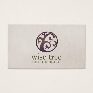 Wood Tree Holistic Health and Wellness Business Card
