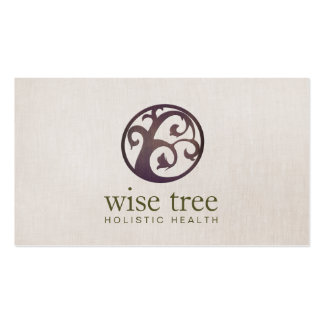 Wood Tree Holistic Health and Wellness Pack Of Standard Business Cards