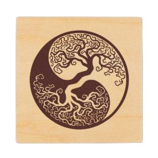 Wood Tree of Life Yin Yang Wood Coaster